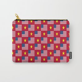 Mix of flag : usa and vietnam Carry-All Pouch