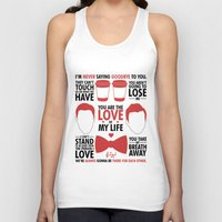 kurt rahn Tank Tops featuring Kurt & Blaine  by Zara Yow
