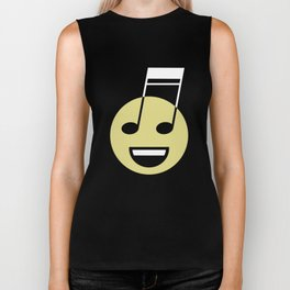 Musical smiley Biker Tank