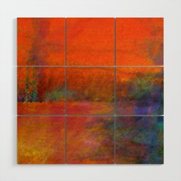 Orange Study #1 Digital Painting Wood Wall Art