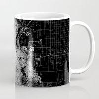 denver Mugs featuring Denver map by Line Line Lines