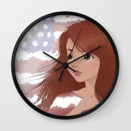 God Bless America 3 Wall Clock