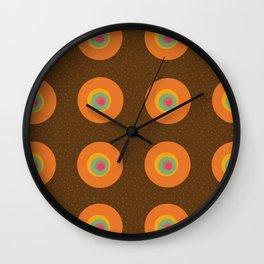 Retro circles - Fabric pattern Wall Clock