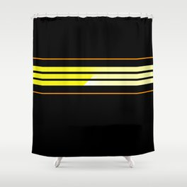 Team Colors 5 ...Yellow , orange Shower Curtain