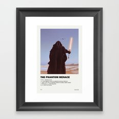 Phantom Menace Alternative Vintage Poster Framed Art Print