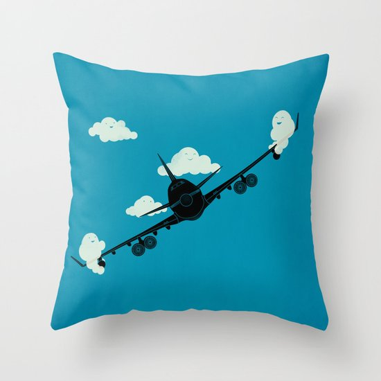 Seesaw in the Sky Throw Pillow