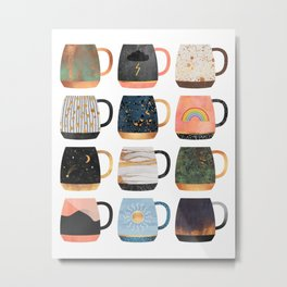 Coffee Cup Collection 2 Metal Print