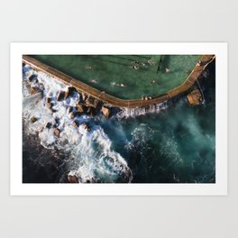 Bronte Beach Ocean Rock Pool closeup Art Print