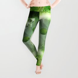 """Aquatic Spring Girl"" (2018 Version) Leggings"