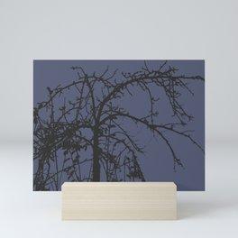 Creepy tree silhouette Mini Art Print