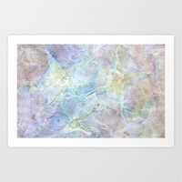 Pastel Pressed Flower Pattern Art Print