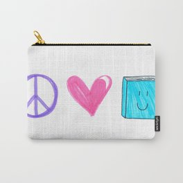 peace love and books Carry-All Pouch