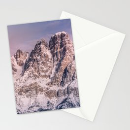 Mountains snow Stationery Cards