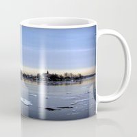 finland Mugs featuring helsinki (finland) - island by aune