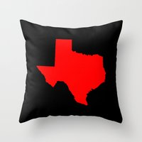 texas Throw Pillows featuring Texas  by dani