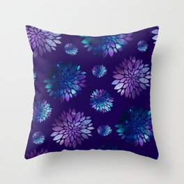 Space Delilah flower pattern. Throw Pillow