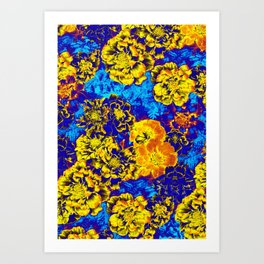 Electric Floral Art Print
