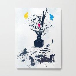 Inked Metal Print