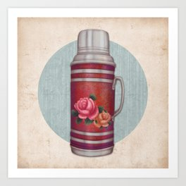 Retro Warm Water Jar Art Print
