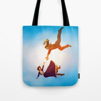 bioshock infinite Tote Bags featuring Bioshock Infinite by anansass