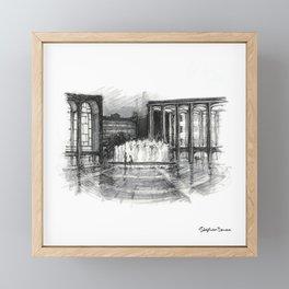 Lincoln Center, Night Framed Mini Art Print