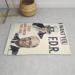 Vintage poster - I Want You FDR Rug