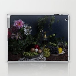 Classic  still life with flowers, fruit, vegetables and wine Laptop & iPad Skin