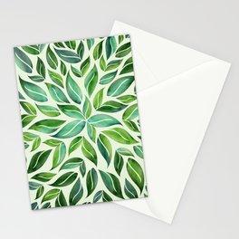 Spring Leaf Mandala Stationery Cards
