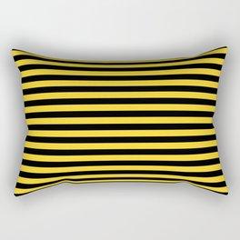 Yellow and Black Honey Bee Horizontal Deck Chair Stripes Rectangular Pillow