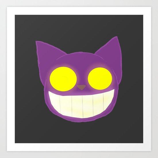 GhostKat Lineless head Art Print