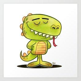 Anmals N' Stuff Series - 2 - Lizard Art Print