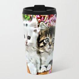 TWO CUDDLY KITTENS Travel Mug