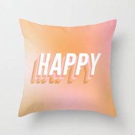 Choose Happy! - Peachy #positivity Throw Pillow