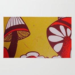 mushrooms and flowers Rug