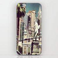las vegas iPhone & iPod Skins featuring Las Vegas by robert degollado