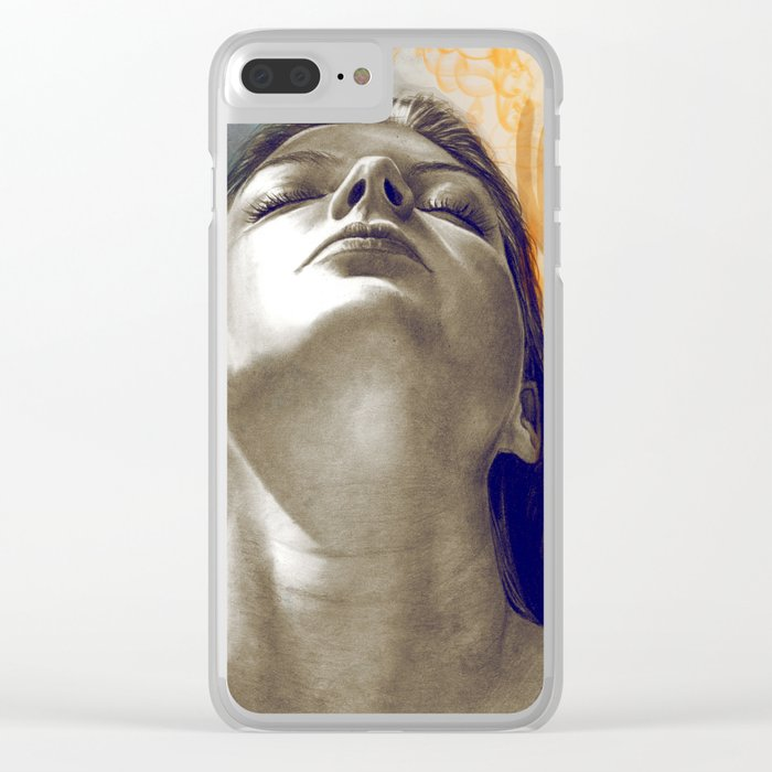 Equilibrum - retouched drawing Clear iPhone Case