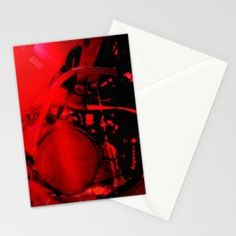 RED DIRTBIKE ENGINE Stationery Cards