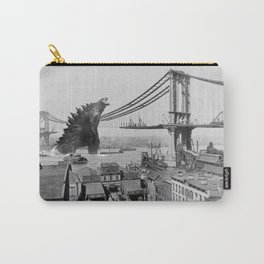 Old Time Godzilla Manhattan Bridge Carry-All Pouch
