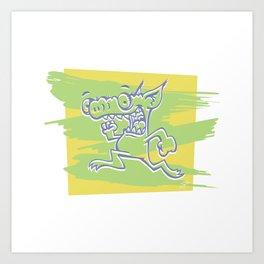 Blurry Runner Art Print