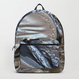 black plastic melts Backpack