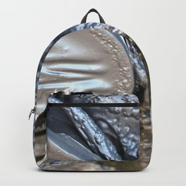 black plastic melts Backpack