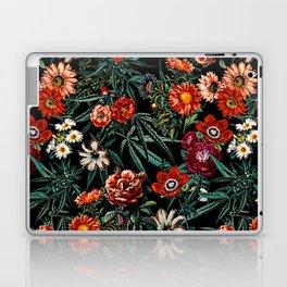 Marijuana and Floral Pattern Laptop & iPad Skin