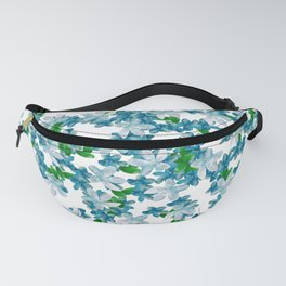 Summer Blues, Floral Pattern Fanny Pack