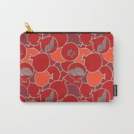 Pomegranate Harvest with Fruit and Seeds Carry-All Pouch