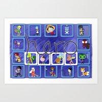 fandom Art Prints featuring Define Fandom 2 aka TheRug by Wayko World