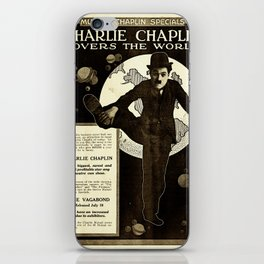 Charlie Chaplin Covers the World iPhone Skin