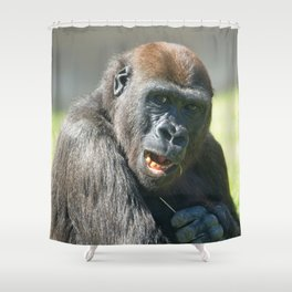 Happy Gorilla Lope Shower Curtain