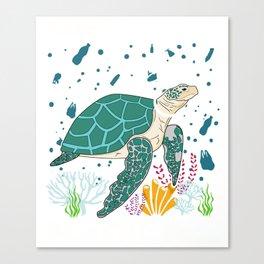 Please keep the sea  plastic free Canvas Print