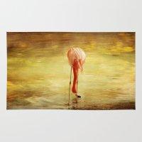 flamingo Area & Throw Rugs featuring Flamingo by Kim Bajorek
