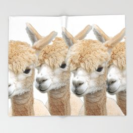 Alpaca Line Up Throw Blanket